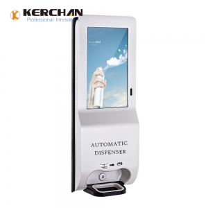 Kerchan  1080p foam dispenser with digital signage android with 3L wifi dispenser