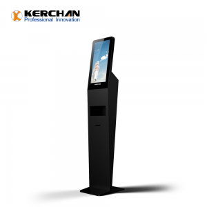 Kerchan 1080p hand sanitizing dispenser with monitor digital signage android