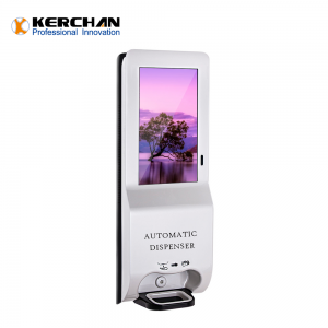 Kerchan 2020 New Product 21.5 inch automatic hand sanitizing with 3000ml Automatic Foam Soap Touch-Free Sensor dispenser