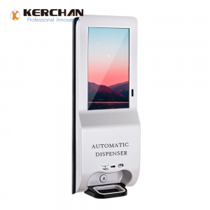 Kerchan 2020 New Product digit kiosk automatic sanitizer dispenser with 3000ml Automatic Foam Soap Touch-Free Sensor dispenser