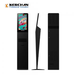 Kerchan 21.5 inch auto foam sanitizing dispenser with hand sanitizer kiosk with hand sanitizer dispenser