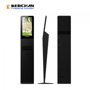 Kerchan 21.5 inch automatic liquid soap dispenser with digtial signage hand sanitizer kiosk