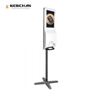 Kerchan Android ad player soap dispenser kiosk Touch hand sanitizer dispenser with display digital Signage
