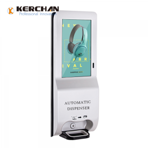 Kerchan Android digital signage 1080p automatic soap foam dispenser