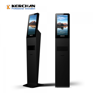 Kerchan Digital Signage hand sanitizing screen, 1080p auto foam liquid dispenser