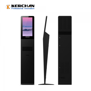 Kerchan Digital Signage lcd digit signage hand sanitizing with 1080p auto foam liquid dispenser