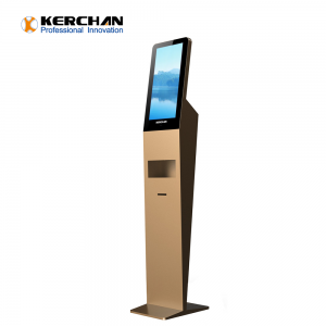 Kerchan Digital Signage sanitizer dispenser screen with 1080p auto foam liquid dispenser