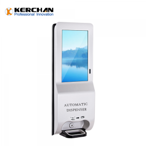 Kerchan Digital Signage soap dispenser display with 1080p auto foam liquid dispenser