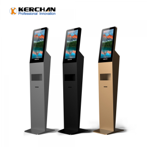 Kerchan New Product hand sanitizing ad kiosk with ad billboard automatic soap liquid dispenser