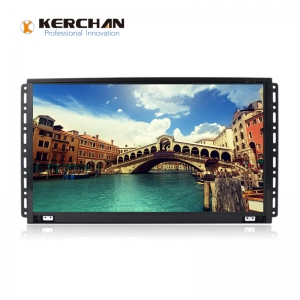 1560KH Kerchan SAD HD 15.6 inch frameless lcd monitor lcd touch screen loop video advertising display