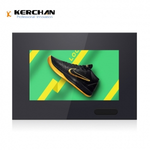 Kerchan display dispenser with advertising lcd player