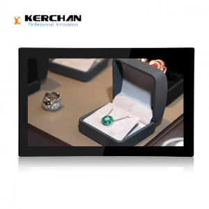 Kerchan lcd advertising player with touch screen advertising player