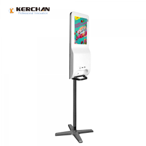 Kerchan lcd kiosk 21.5 inch auto liquid sanitizing dispenser with Kerchan automatic soap dispenser