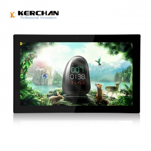 Kerchan open frame android tablet with wall mounted advertising display