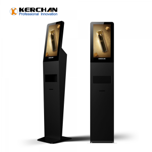 Kerchan rich experience 1080p auto soap liquid dispenser with liquid monitor sanitizing billboards digital signage hand sanitizers