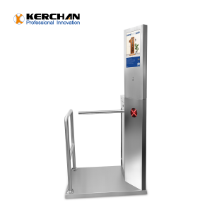 SAD1560ZJ Access Control Turnstile Gate With Infrared Body Temperature Check System