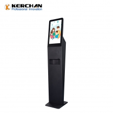 中国DSD2150AF-Pro 21.5inch floor stand sanitizer dispenser digital signage with temperature check工厂