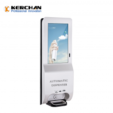 Kerchan 1080p foam soap dispenser with digital signage screen android