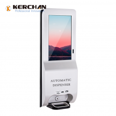 Chine société Kerchan 2020 New Product digit kiosk automatic sanitizer dispenser with 3000ml Automatic Foam Soap Touch-Free Sensor dispenser