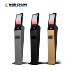 Chine société Kerchan 2020 New Product digit signage soap dispenser with Floor Stand/Wall Mount Gel Auto Dispenser