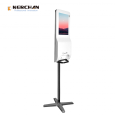 Chine société Kerchan 2020 New Product hand sanitizing android billboard with Floor Stand/Wall Mount Gel Auto Dispenser