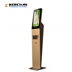 Kerchan 21.5 inch automatic sanitizer dispenser with digtial signage hand sanitizer kiosk