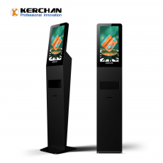 Chine société Kerchan Ad player liquid dispenser digit display with Touchless Automatic Sensor Foaming Liquid Soap Dispenser