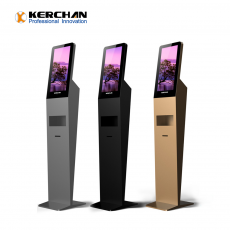 Chine société Kerchan Ad player signage hand sanitizing with ad billboard automatic soap liquid dispenser