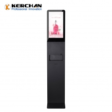 Kerchan Android ad player Automatic lcd hand sanitizer dispenser kiosk touch screen hand sanitizing 1080p auto foam sanitizing,21.5 inch automatic liquid sanitizing