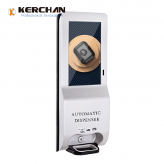 Kerchan Android ad player sanitizer dispenser wifi with Display Advertising Sanitizer with remotely system