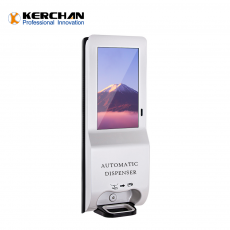 Chine société Kerchan Digital Signage wifi soap dispenser with 1080p auto foam liquid dispenser