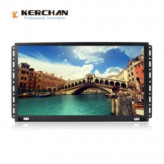 China 1560KH Kerchan SAD HD 15.6 inch frameless lcd monitor lcd touch screen loop video advertising display company
