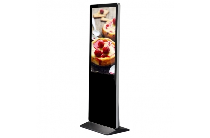 Advertising machine with touch screen in catering industry
